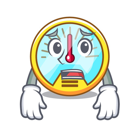 Afraid speedometer isolated with in the mascot vector illustration