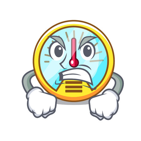 Angry speedometer isolated with in the mascot vector illustration Illustration