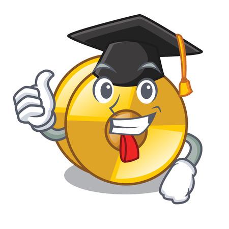 Graduation cyamblas in the a mascot room vector illustration