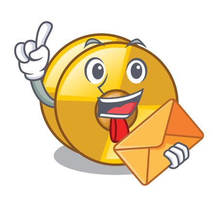 With envelope cyamblas in the a mascot room vector illustration