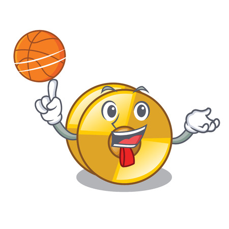 With basketball cyamblas in the a cartoon shape vector illustration