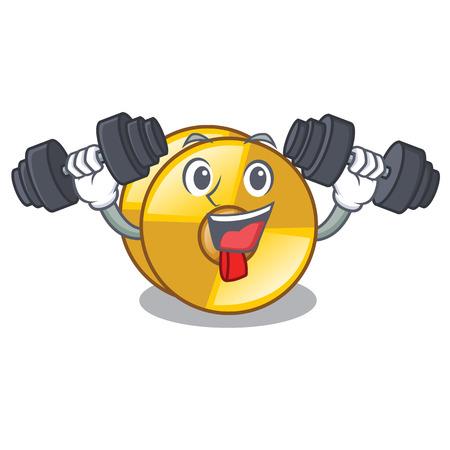 Fitness cyamblas in the a cartoon shape vector illustration Illustration