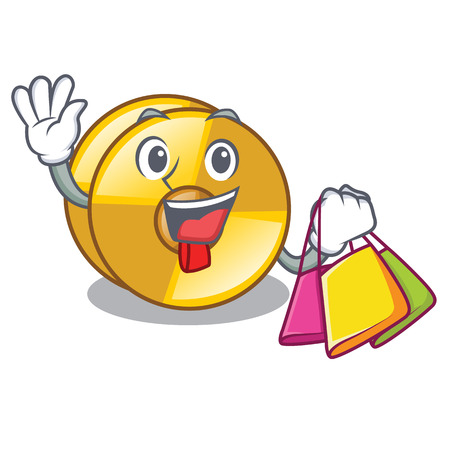 Shopping cyamblas in the a mascot room vector illustration