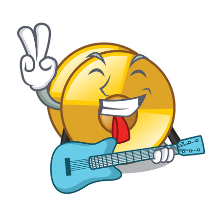 With guitar cyamblas above in the character drum vector illustration