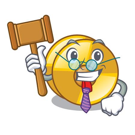 Judge cyamblas miniature in the cartoon shape vector illustration