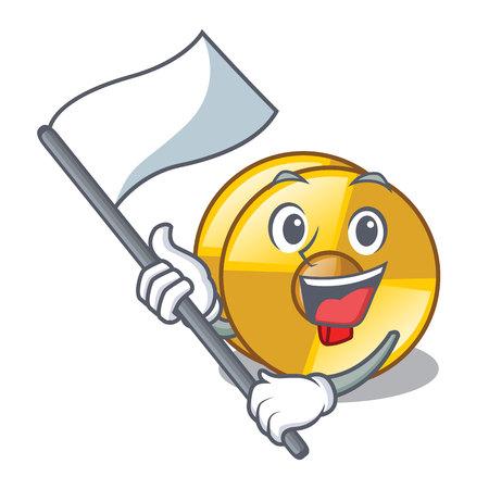With flag cyamblas miniature in the cartoon shape vector illustration Imagens - 124931113