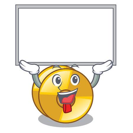 Up board cyamblas in the a cartoon shape vector illustration