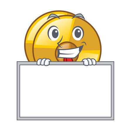 Grinning with board cyamblas in the a cartoon shape vector illustration Illustration
