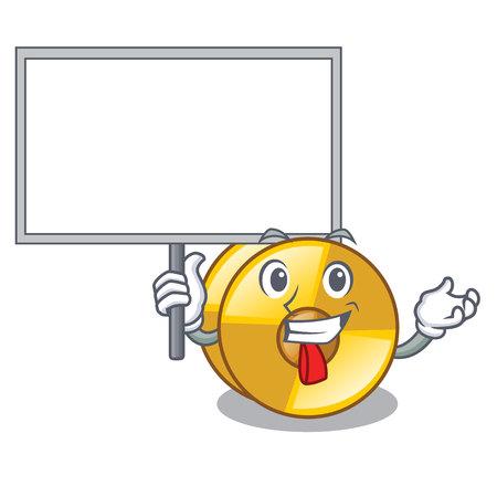 Bring board cyamblas in the a cartoon shape vector illustration