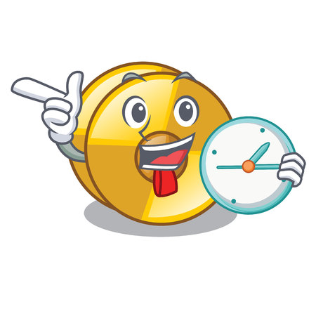 With clock cyamblas in the a mascot room vector illustration Illustration