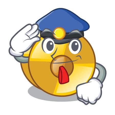 Police cyamblas in the a cartoon shape vector illustration