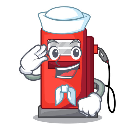 Sailor gasoline pump in the character form