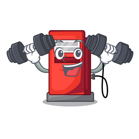 Fitness gosoline pump in the character form vector illustration Ilustração