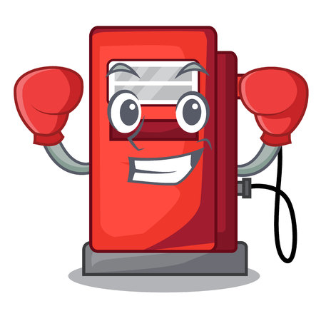 Boxing gosoline pump in the character form vector illustration