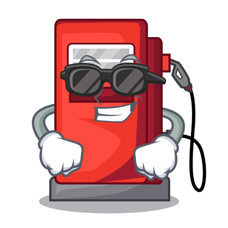 Super cool gosoline pump isolated in the mascot vector illustration Illustration