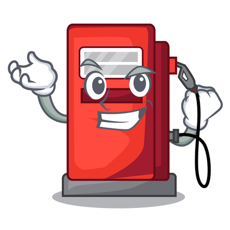 Successful gosoline pump isolated in the mascot vector illustration Illustration