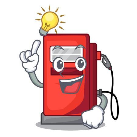 Have an idea gosoline pump front the cartoon house vector illustration Illustration