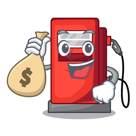 With money bag gosoline pump in the character form vector illustration Illustration