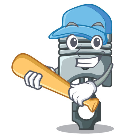 Playing baseball piston in the form of mascot vector illustration Фото со стока - 124886864