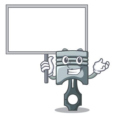 Bring board piston in the form of mascot vector illustration Фото со стока - 124886867