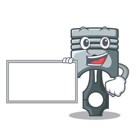 With board piston in the form of mascot vector illustration Фото со стока - 124886868