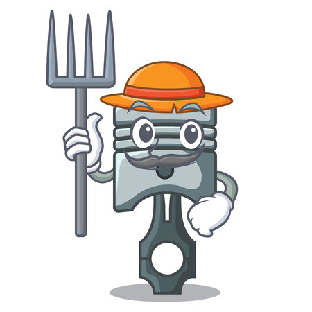 Farmer piston in the form of mascot vector illustration Фото со стока - 124886872