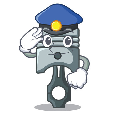 Police piston in the form of mascot vector illustration Illustration
