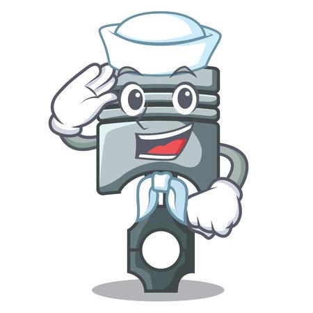 Sailor piston in the form of mascot vector illustration Фото со стока - 124886880