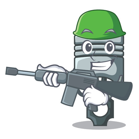 Army piston in the form of mascot vector illustration Фото со стока - 124886882