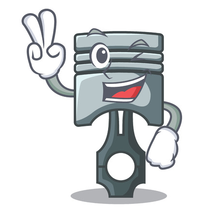 Two finger piston character in a the box vector illustration Фото со стока - 124886884