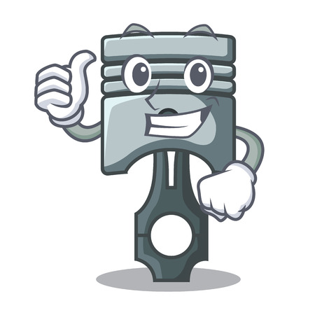 Thumbs up piston character in a the box vector illustration Ilustrace