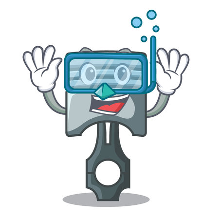 Diving piston character in a the box vector illustration Фото со стока - 124886888