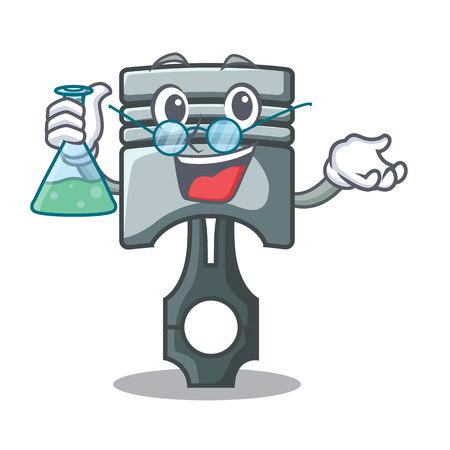 Professor piston character in a the box vector illustration Иллюстрация