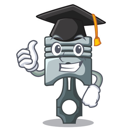 Graduation piston character in a the box vector illustration Фото со стока - 124886894