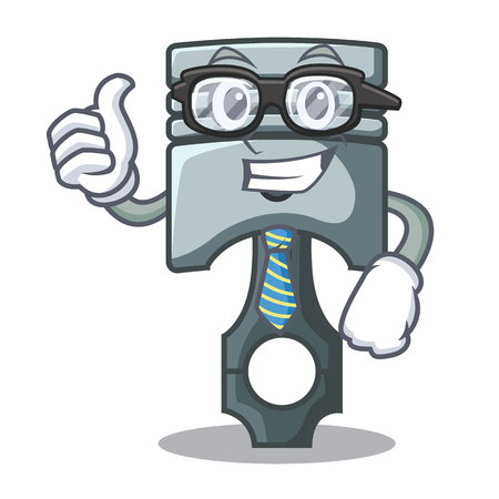 Businessman piston character in a the box vector illustration