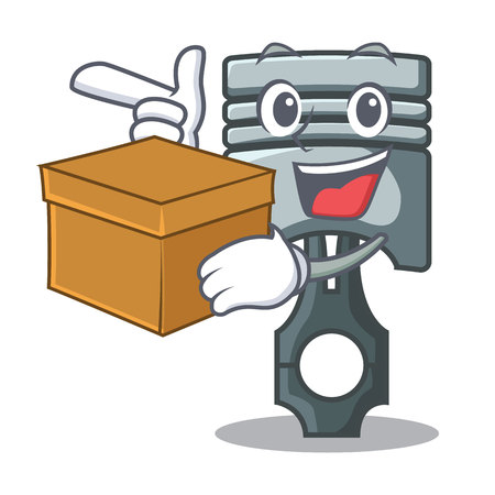 With box piston character in a the box vector illustration Фото со стока - 124886898