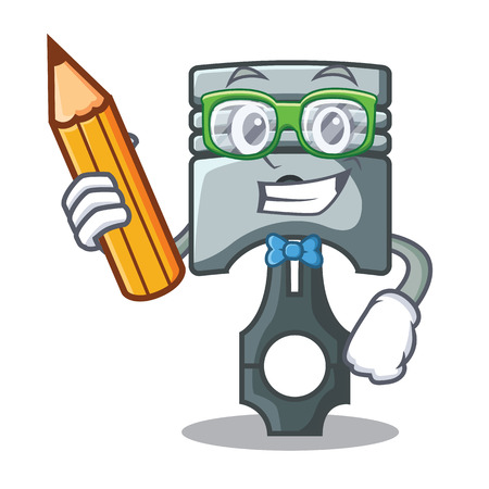 Student piston character in a the box vector illustration Фото со стока - 124886899