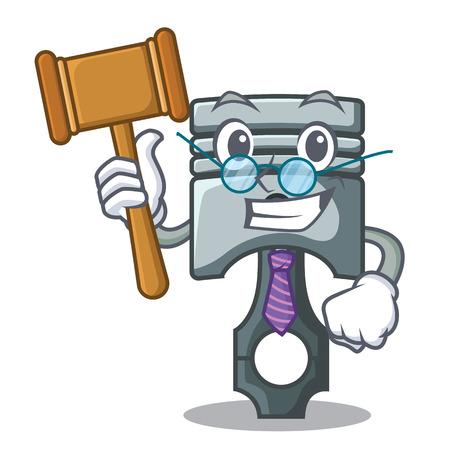 Judge miniature piston in the cartoon shape vector illustration Фото со стока - 124886906