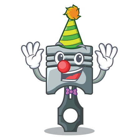 Clown miniature piston in the cartoon shape vector illustration Иллюстрация