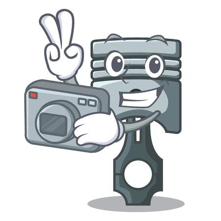 Photographer piston isolated in the cartoon shape vector ilustration 矢量图像