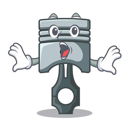 Surprised piston isolated in the cartoon shape vector ilustration Фото со стока - 124886914