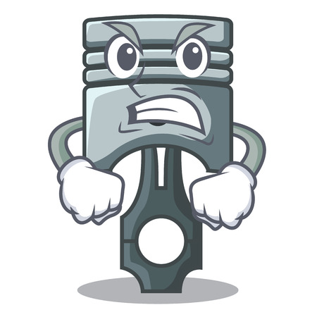 Angry piston isolated in the cartoon shape vector ilustration