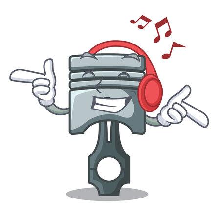 Listening music piston isolated in the cartoon shape vector ilustration Фото со стока - 124886917