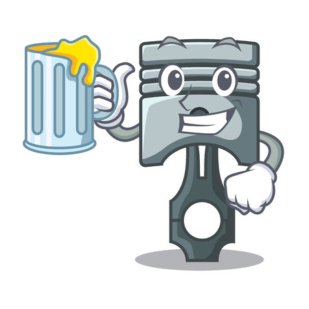 With juice piston isolated in the cartoon shape vector ilustration Фото со стока - 124886921