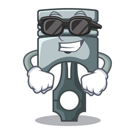 Super cool piston character in a the box vector illustration Фото со стока - 124886924