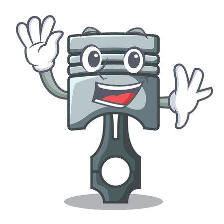 Waving piston character in a the box vector illustration Фото со стока - 124886925