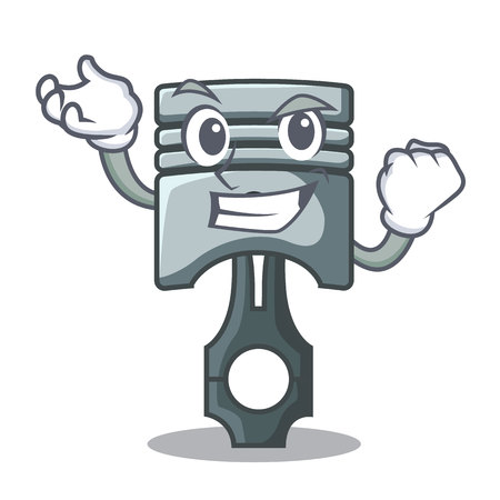 Successful piston character in a the box vector illustration Фото со стока - 124886926