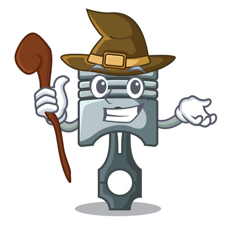 Witch piston isolated in the cartoon shape vector ilustration