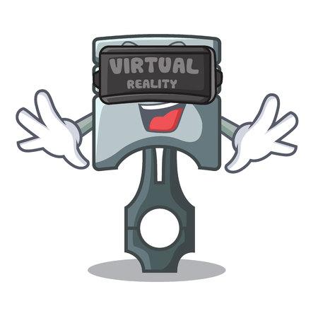 Virtual reality piston isolated in the cartoon shape vector ilustration Фото со стока - 124886929