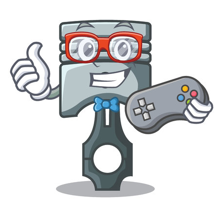 Gamer piston isolated in the cartoon shape vector ilustration Фото со стока - 124886930